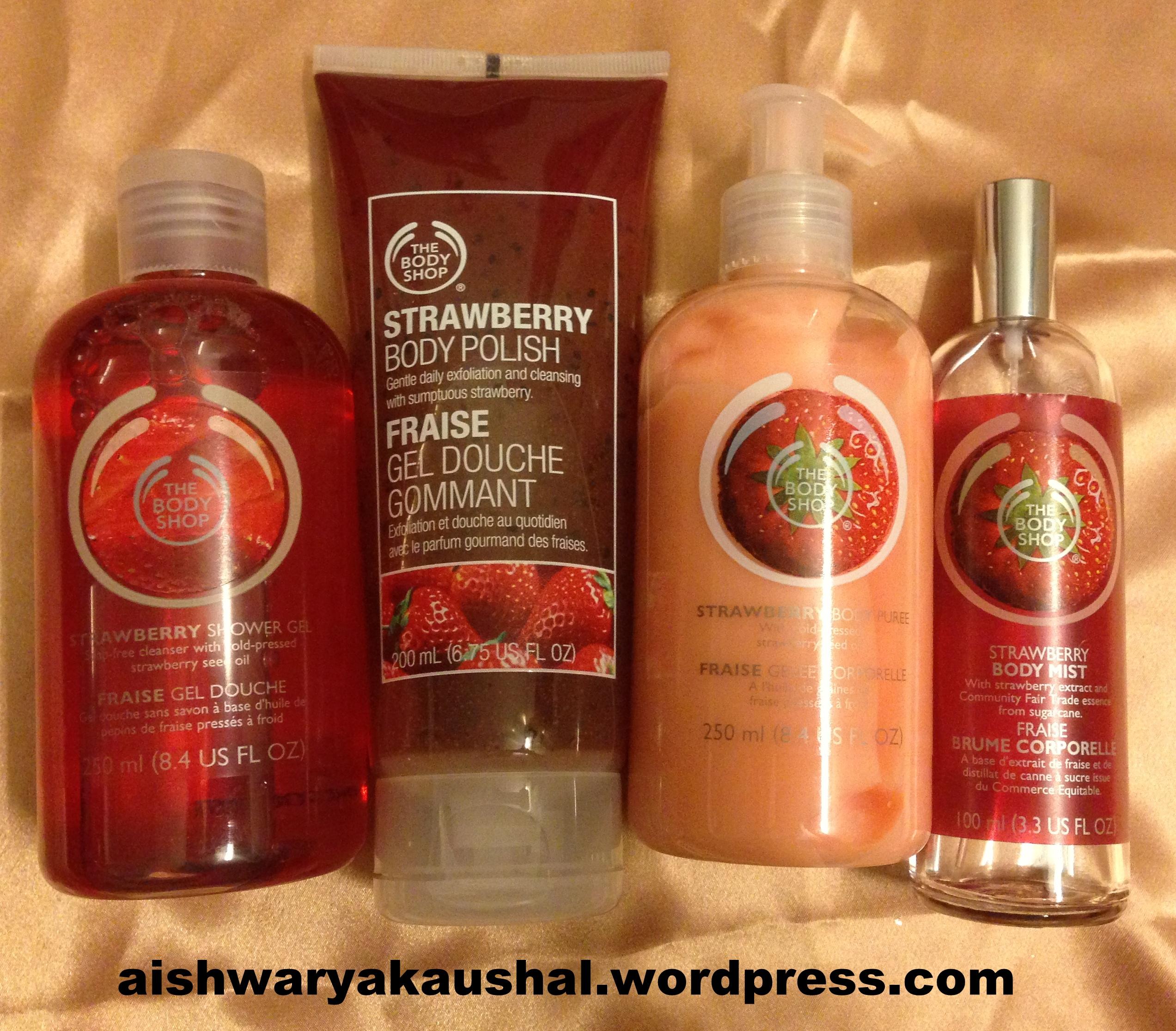 the body shop strawberry range