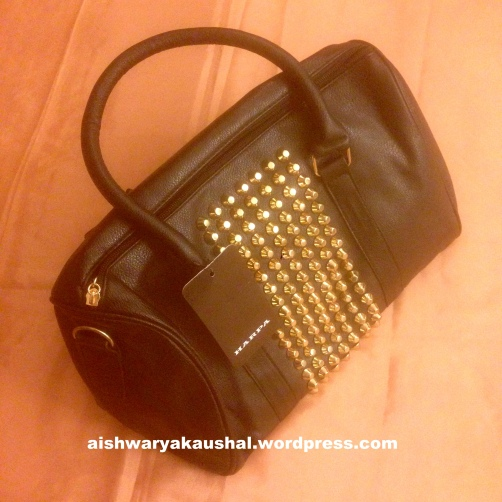 e0a5c297c Studded Bag by Harpa from Jabong – Rs. 1600 but on sale for Rs. 900/-